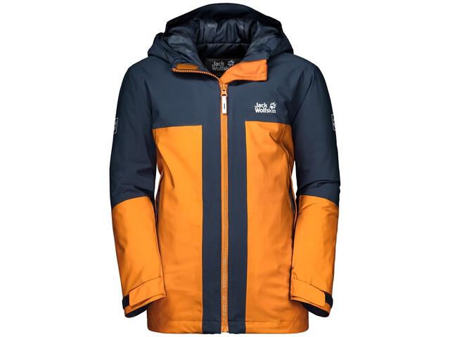 premium selection 4331a b1c04 Jack Wolfskin Powder Mountain Jacke Jungs rusty orange